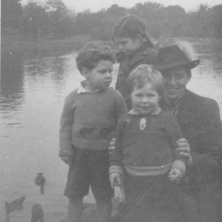 This is me, uncle David, Auntie Robin and G-Grandmother Ida. We were all very, very young. This was about 1946 just after the War.