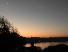 Sunset over Lake Babogaya