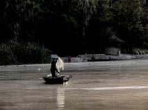 Fisherman on Lake Babogaya (formerly named Bishoftu Guda)