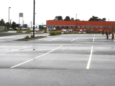 Car park at Aldi.